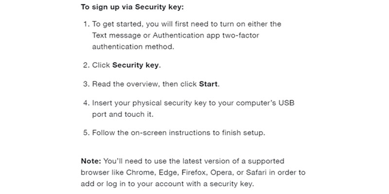 TWO FACTOR TWITTER SIGNUP VIA SECURITY KEY