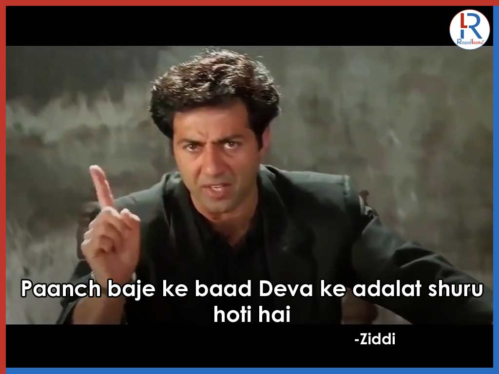 Sunny Deol In Ziddi | Best Dialogues by Sunny Deol