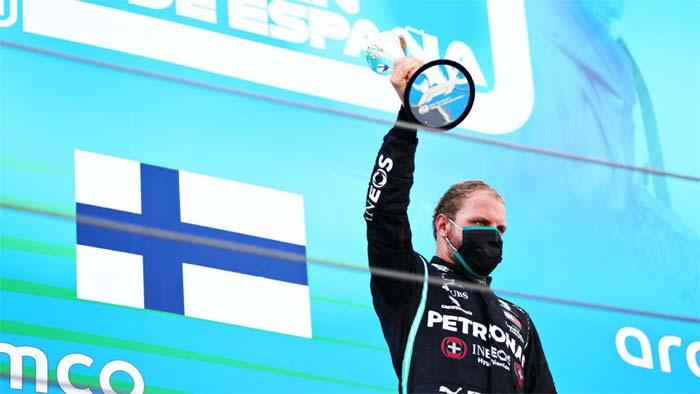 Valtteri Bottas captured a fiftieth career podium