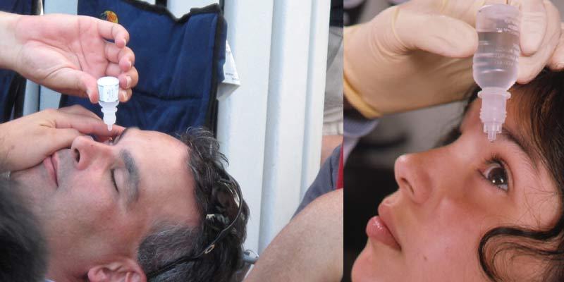 Person Putting Eye Drops In their Eye | Eye Drops for Eye Flu