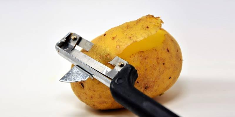 Half Peeled Potato | Is Potato Good For Weight Loss