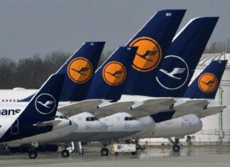 Lufthansa Aeroplane Fleet Parking | Lufthansa Suspends Flights to India