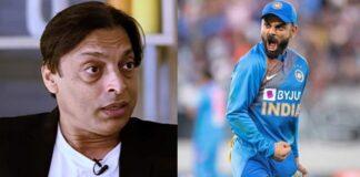 Shoaib Akhtar and Virat Kohli