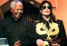 Michael Jackson with Nelson Mandela   how Michael Jackson helped Nelson Mandela