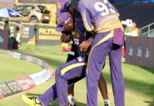 Andre Russell injured during KKR Vs KXP