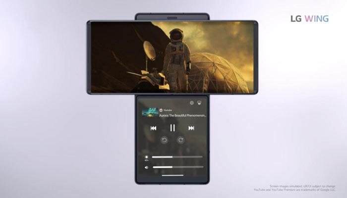 LG Wing Multi-app