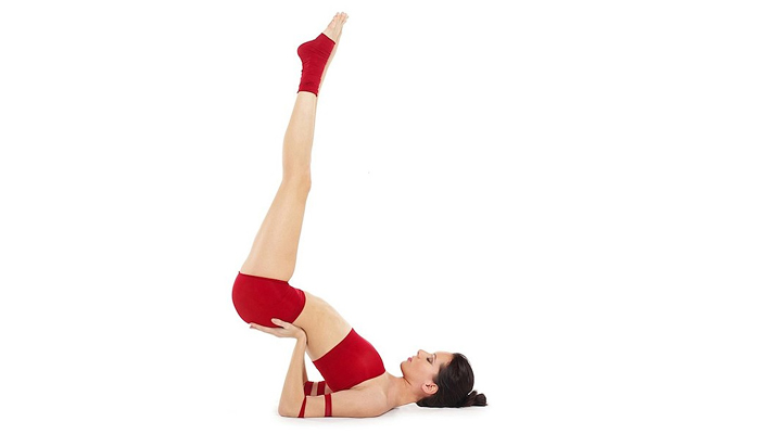Supported Shoulder Stand - Yoga For Thyroid
