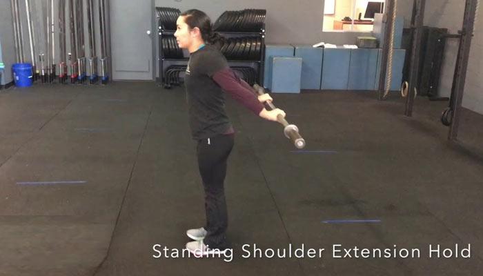 standing shoulder extension   Exercises for Frozen Shoulder