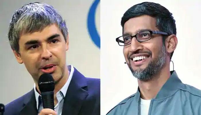 Sundar Pichai and Larry Page
