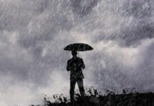 Man Standing in Rain | Why Are Rain Clouds Dark