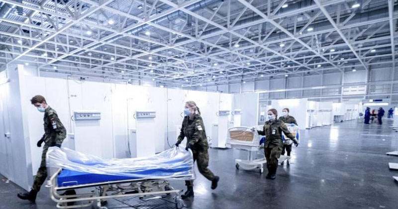Doctors Pulling Patient Bed | Coronavirus Deaths Germany