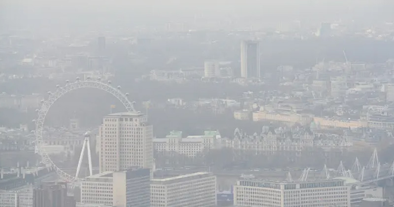 Aerial View of Air Pollution in London | Deaths Due to Air Pollution in London