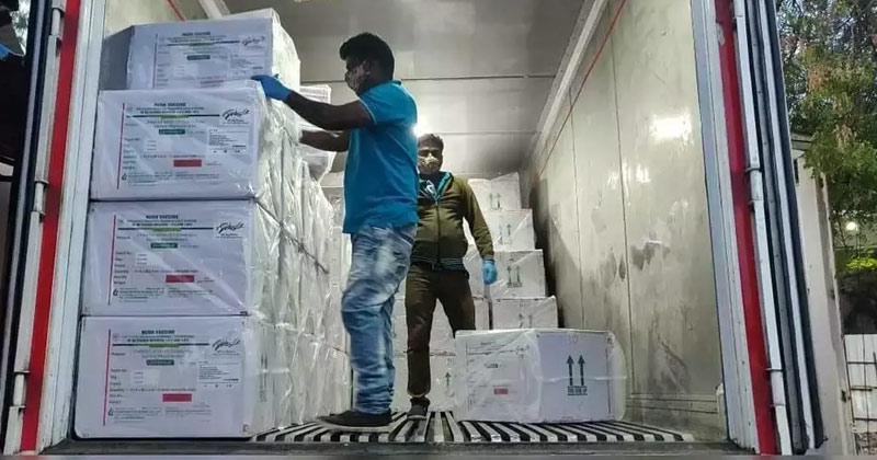 Workers Loading Covid Vaccine In Trucks | India to Supply Vaccine Doses to Brazil