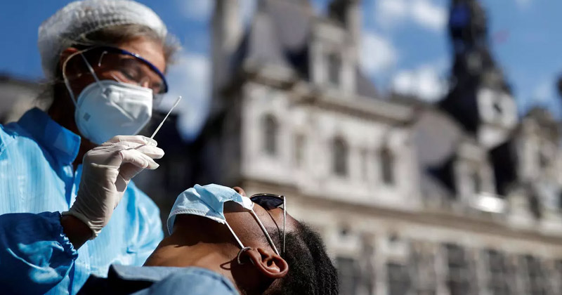 Doctor Taking Sample of a Patient for Covid Testing | Rising Covid Cases France