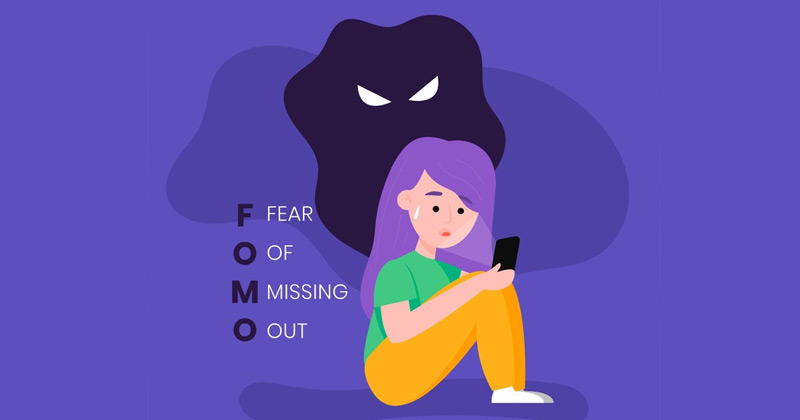 Creative Representation of Fear of Missing Out | FOMO