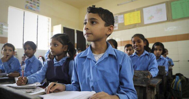 Government School Classroom | free uniforms and textbooks Rajasthan government school students
