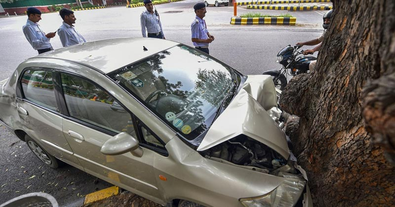 road accidents in Delhi in 2020