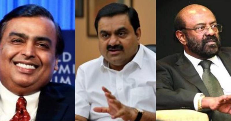 Picture Mukesh Ambani, Gautam Adani And Shiv Nadar   India has third highest number of billionaires