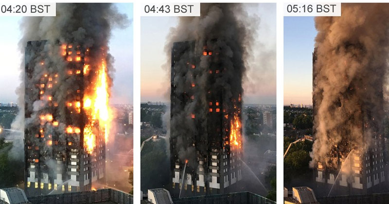 Fire At London Tower