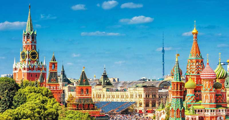 View of Red Square with Ostankino Tower in the background   Vaccine Tourism Russia