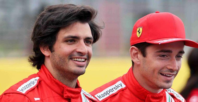 Leclerc and Sainz